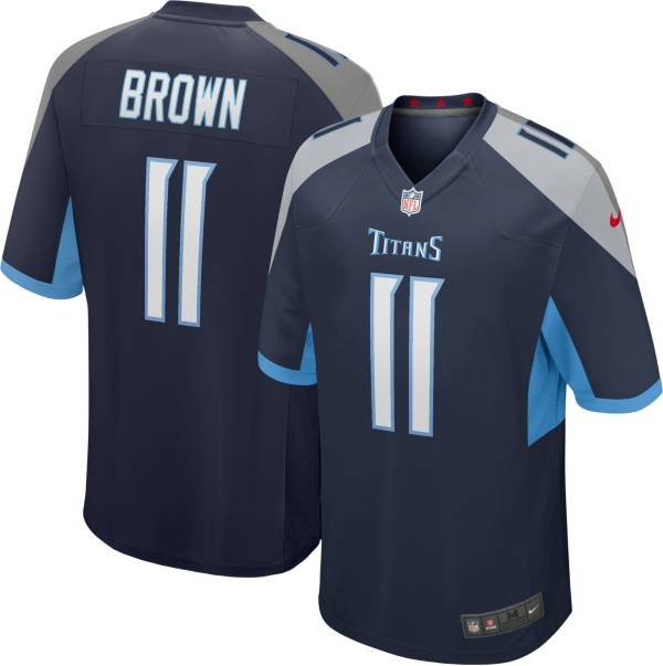 Nike Men's Tennessee Titans A.J. Brown #11 Navy Game Jersey product image