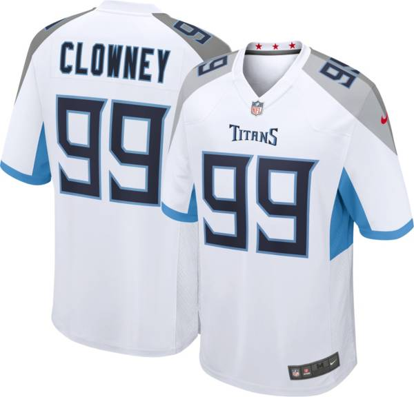 Nike Men's Tennessee Titans Jadeveon Clowney #99 White Game Jersey ...
