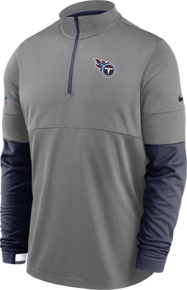 Nike Men's Tennessee Titans Sideline Coach Performance Grey Half-Zip Pullover product image