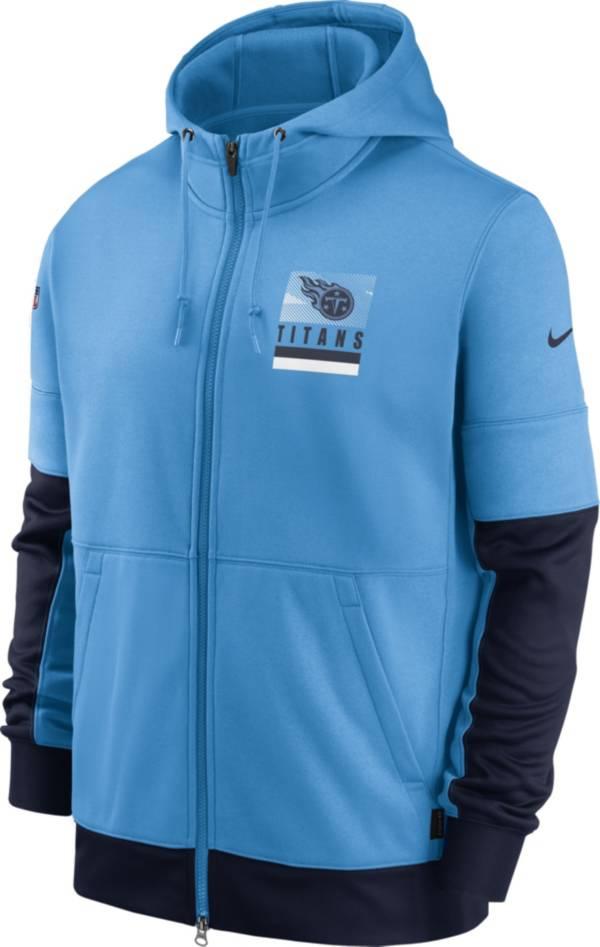 Nike Men's Tennessee Titans Sideline Lock Up Full-Zip Blue Hoodie product image