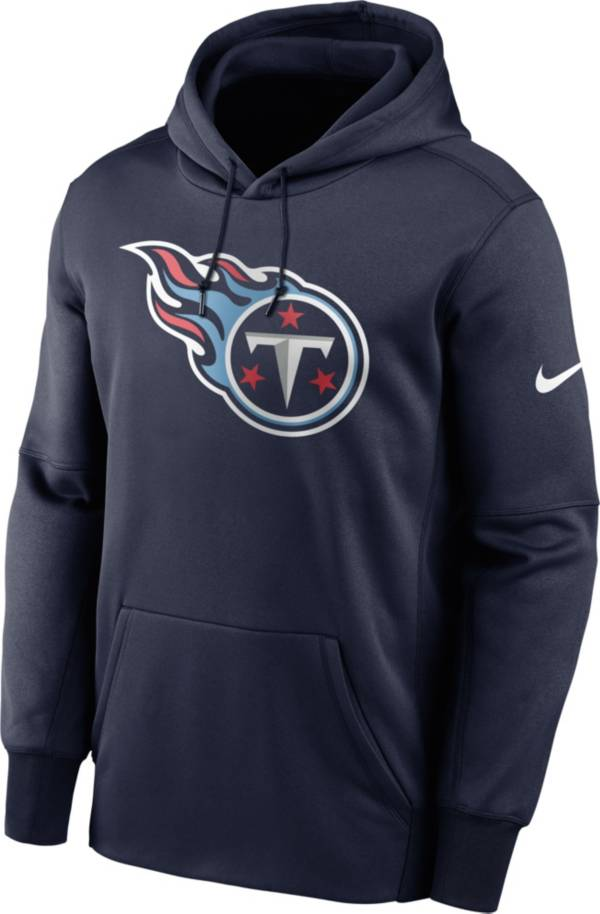 Nike Men's Tennessee Titans Sideline Therma-FIT Navy Pullover Hoodie product image