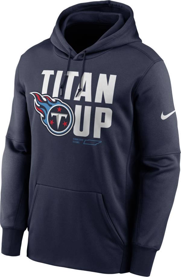 Nike Men's Tennessee Titans College Navy Therma Pullover Hoodie product image