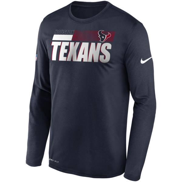 Nike Men's Houston Texans Sideline Coach Long-Sleeve T-Shirt product image