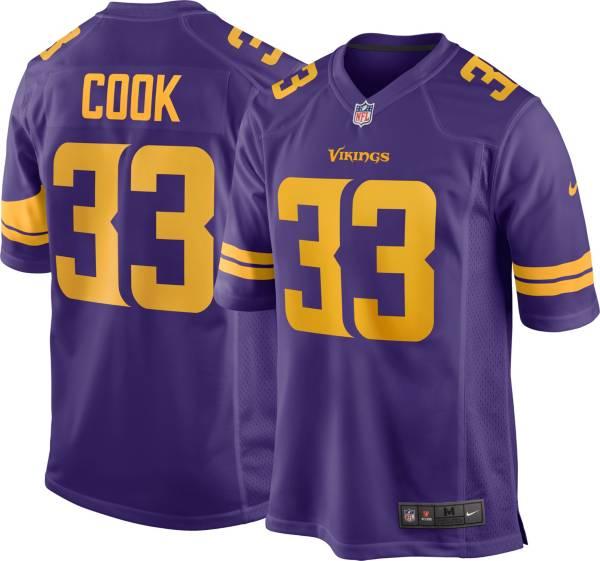 Nike Men's Minnesota Vikings Dalvin Cook #33 Purple Game Jersey product image