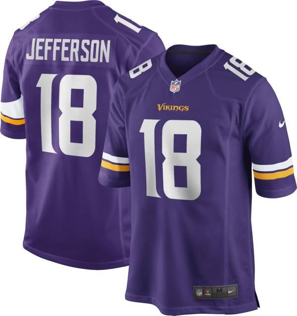 Nike Men's Minnesota Vikings Justin Jefferson #18 Home Purple Game Jersey