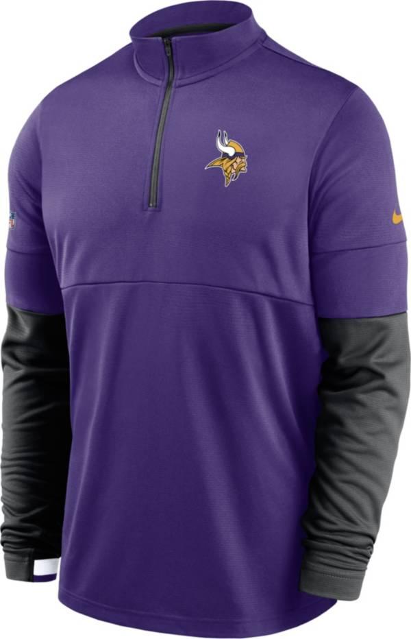Nike Men's Minnesota Vikings Sideline Coach Performance Purple Half-Zip Pullover product image
