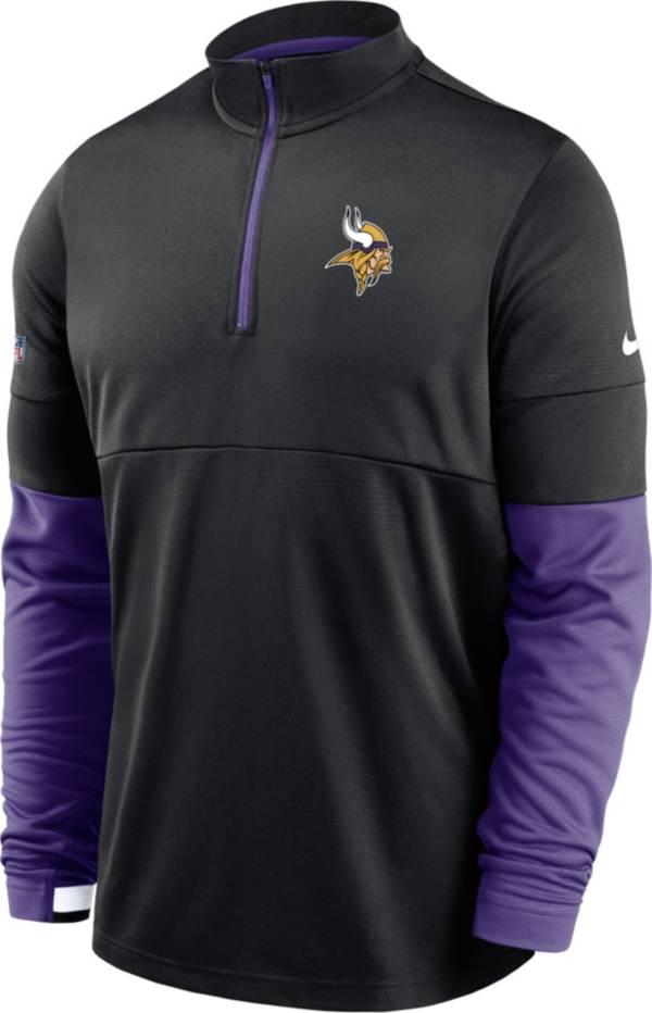 Nike Men's Minnesota Vikings Sideline Coach Performance Black Half-Zip Pullover product image