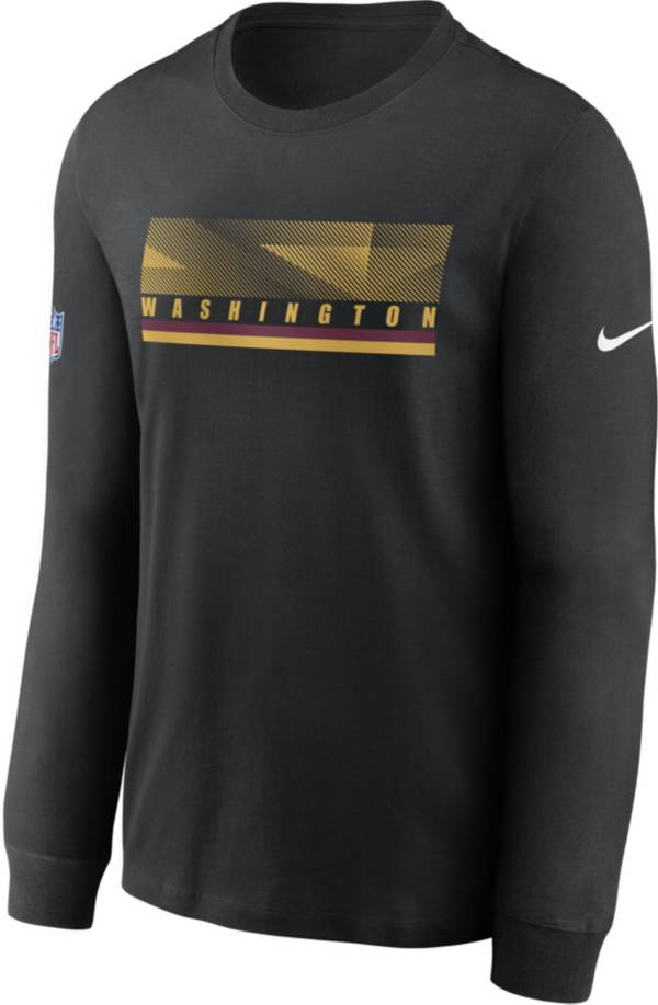 Nike Men's Washington Football Team Sideline Long Sleeve Black T-Shirt product image