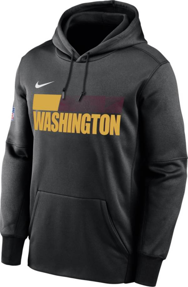 Nike Men's Washington Football Team Therma-FIT Pullover Black Hoodie product image