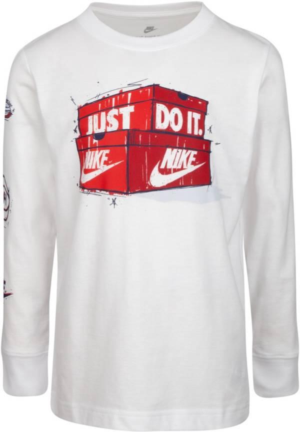 Nike Little Boys' Just Do It Shoebox Logo Long Sleeve T-Shirt product image