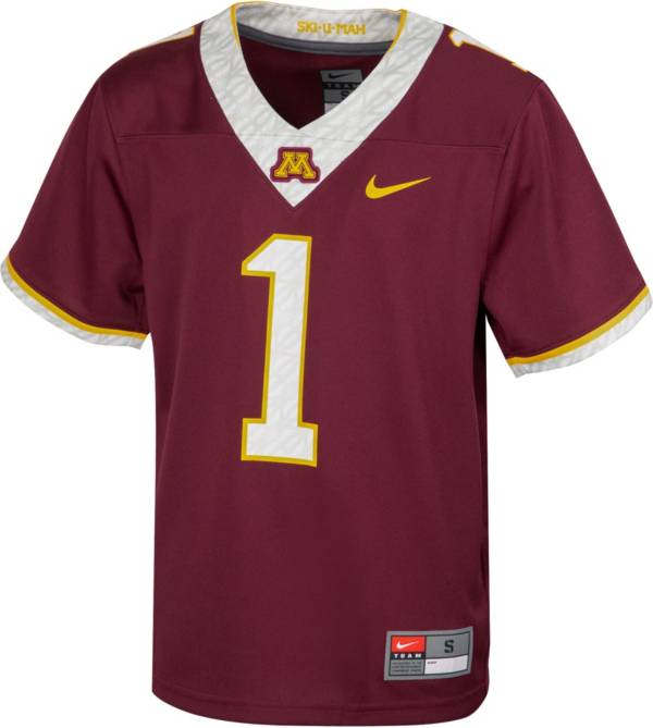 Nike Youth Minnesota Golden Gophers Maroon Replica Football Jersey product image