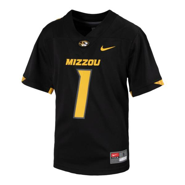 Nike Youth Missouri Tigers Black Replica Football Jersey product image