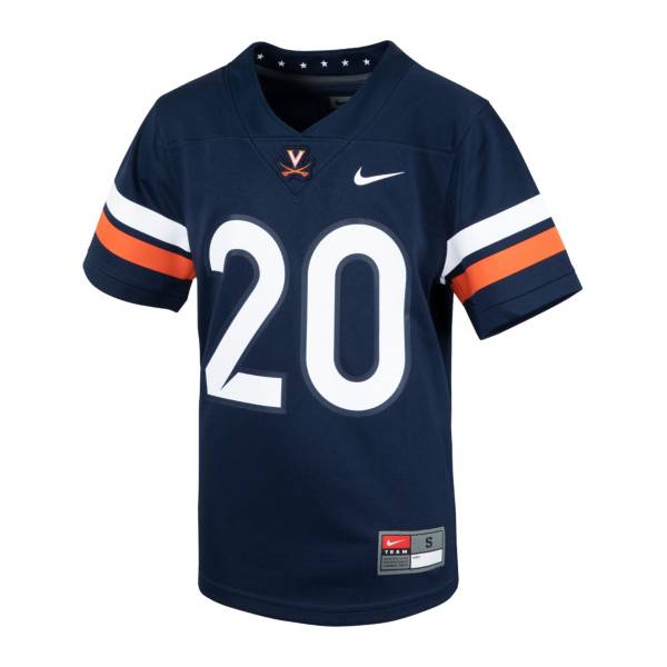Nike Youth Virginia Cavaliers #20 Navy Replica Football Jersey product image