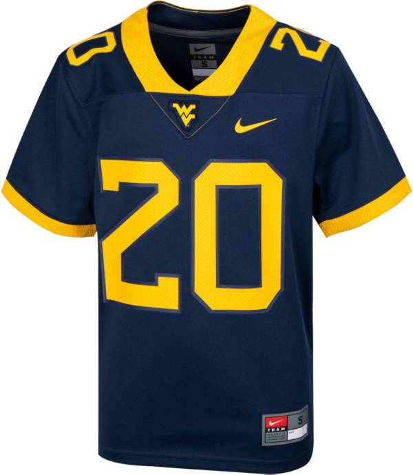 Nike Youth West Virginia Mountaineers Blue Replica Football Jersey product image