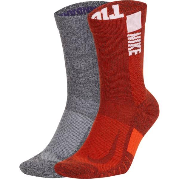 Nike Clemson Tigers Multi Crew Socks 2 Pack product image