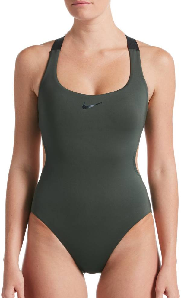 Nike Women's Onyx Flash Bonded Cut-Out One Piece Swimsuit product image