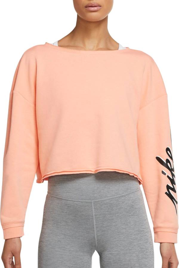 Nike Women's Femme Cropped Training Crew Sweatshirt product image