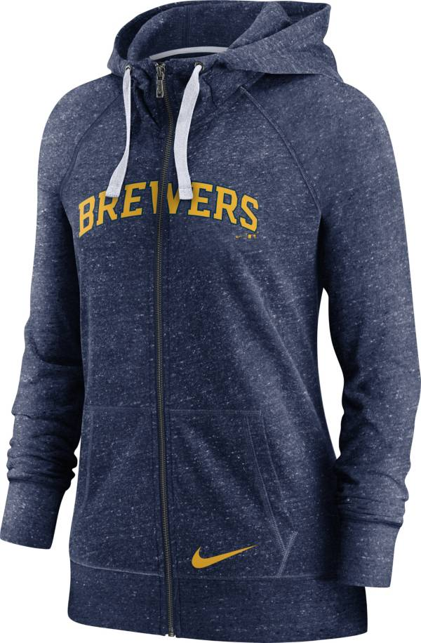 Nike Women's Milwaukee Brewers Gym Vintage Navy Hoodie product image