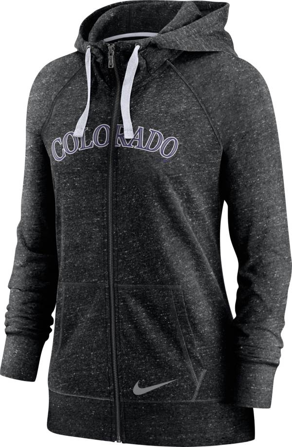 Nike Women's Colorado Rockies Gym Vintage Black Hoodie product image