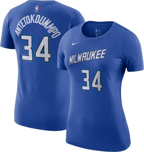 Nike Women's 2020-21 City Edition Milwaukee Bucks Giannis Antetokounmpo #34 Cotton T-Shirt product image