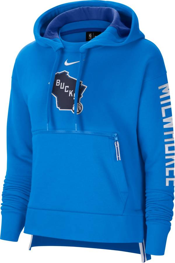 Nike Women's 2020-21 City Edition Milwaukee Bucks Courtside Pullover Hoodie product image
