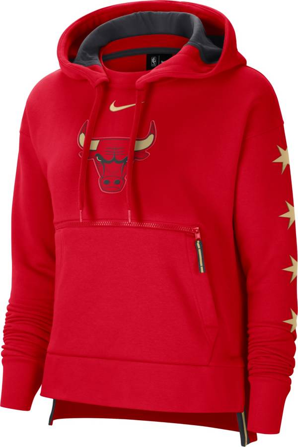 Nike Women's 2020-21 City Edition Chicago Bulls Courtside Pullover Hoodie product image