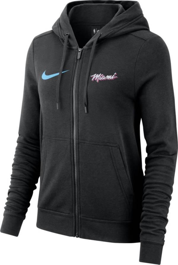 Nike Women's Miami Heat City Edition Full-Zip Black Hoodie product image