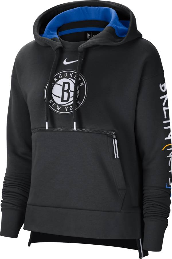 Nike Women's 2020-21 City Edition Brooklyn Nets Courtside Pullover Hoodie product image