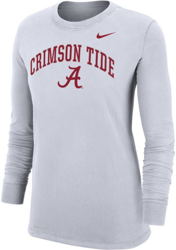 Nike Women's Alabama Crimson Tide Dri-FIT Cotton Long Sleeve White T-Shirt product image