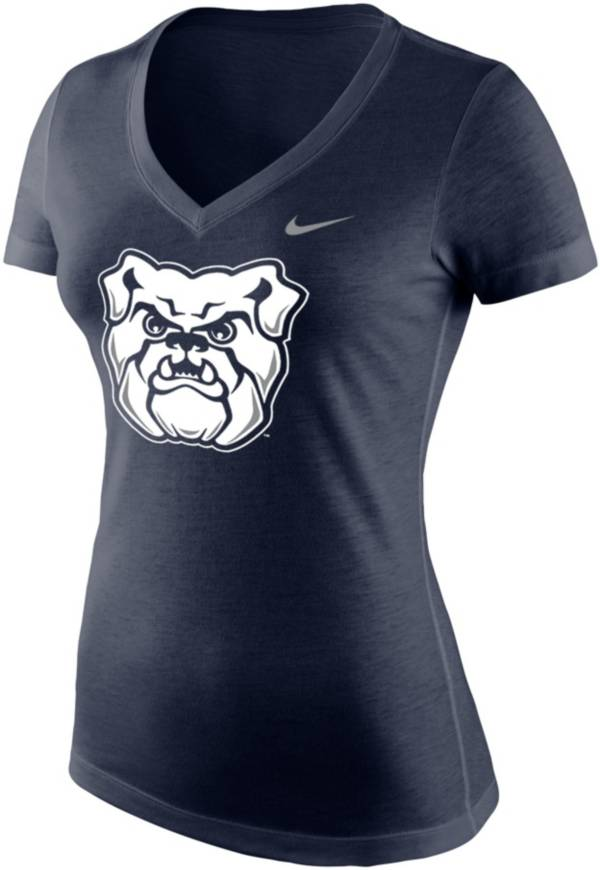 Nike Women's Butler Bulldogs Blue Tri-Blend V-Neck T-Shirt product image
