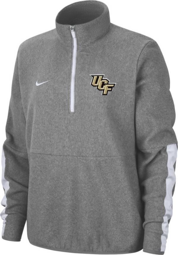 Nike Men's UCF Knights Grey Microfleece Half-Zip Shirt product image