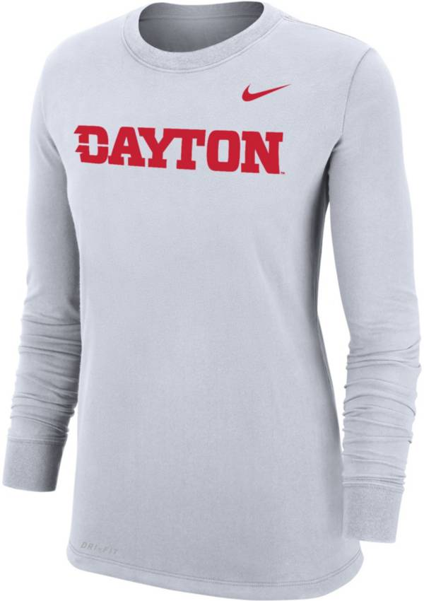 Nike Women's Dayton Flyers Dri-FIT Cotton Logo White T-Shirt product image