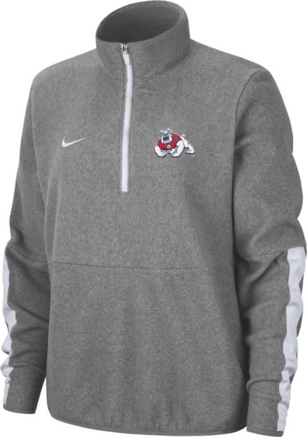 Nike Men's Fresno State Bulldogs Grey Microfleece Half-Zip Shirt product image