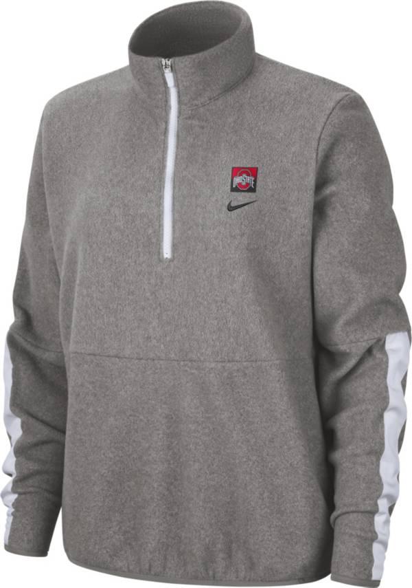 Nike Women's Ohio State Buckeyes Gray Therma Half-Zip Fleece product image