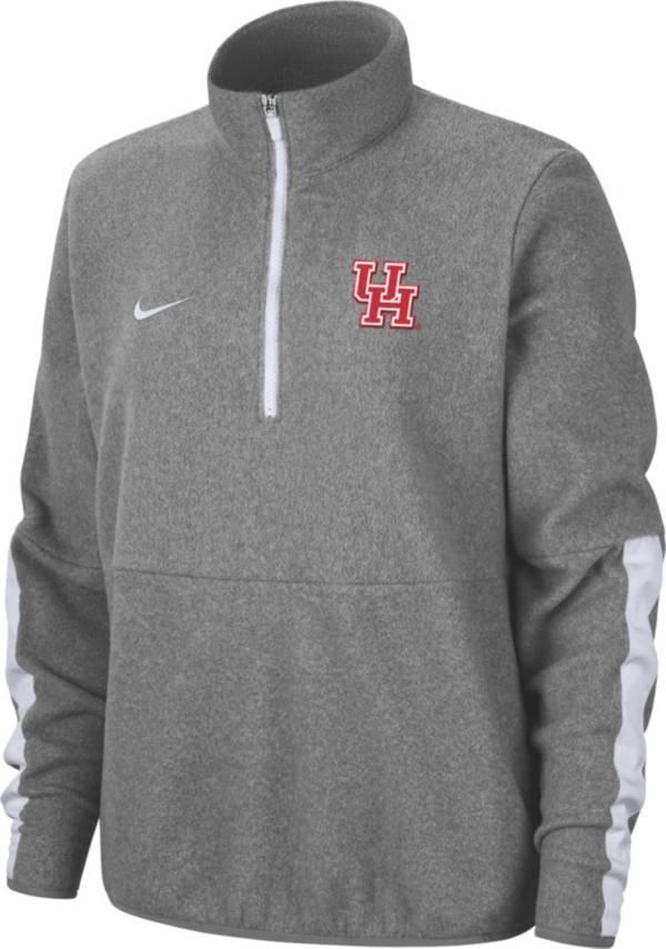 Nike Men's Houston Cougars Grey Microfleece Half-Zip Shirt product image