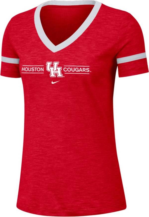 Nike Women's Houston Cougars Red V-Neck T-Shirt product image