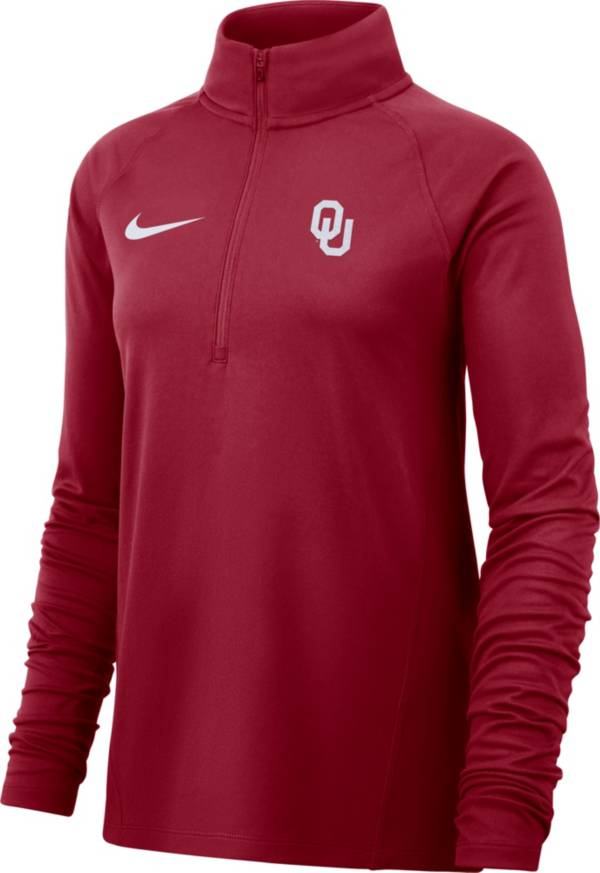 Nike Women's Oklahoma Sooners Crimson Half-Zip Pullover Shirt product image