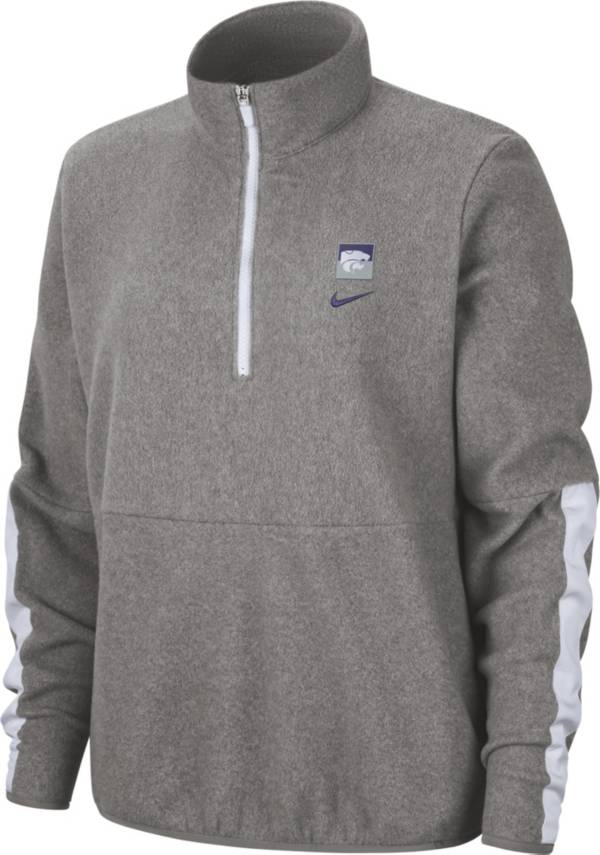 Nike Women's Kansas State Wildcats Grey Therma Half-Zip Fleece product image