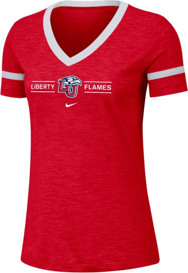 Nike Women's Liberty Flames Red V-Neck T-Shirt product image