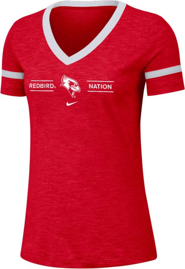 Nike Women's Illinois State Redbirds Red V-Neck T-Shirt product image
