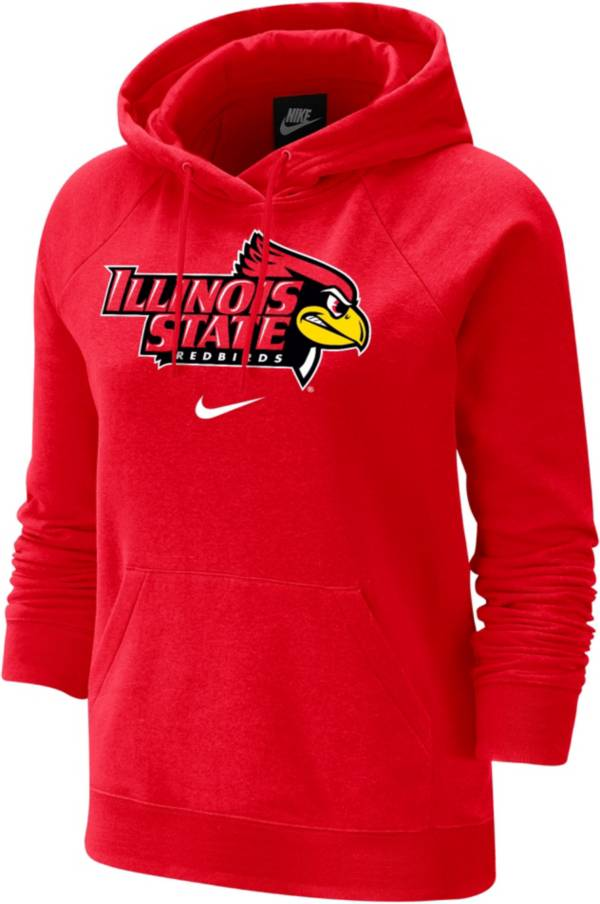 Nike Women's Illinois State Redbirds Red Fleece Pullover Hoodie product image