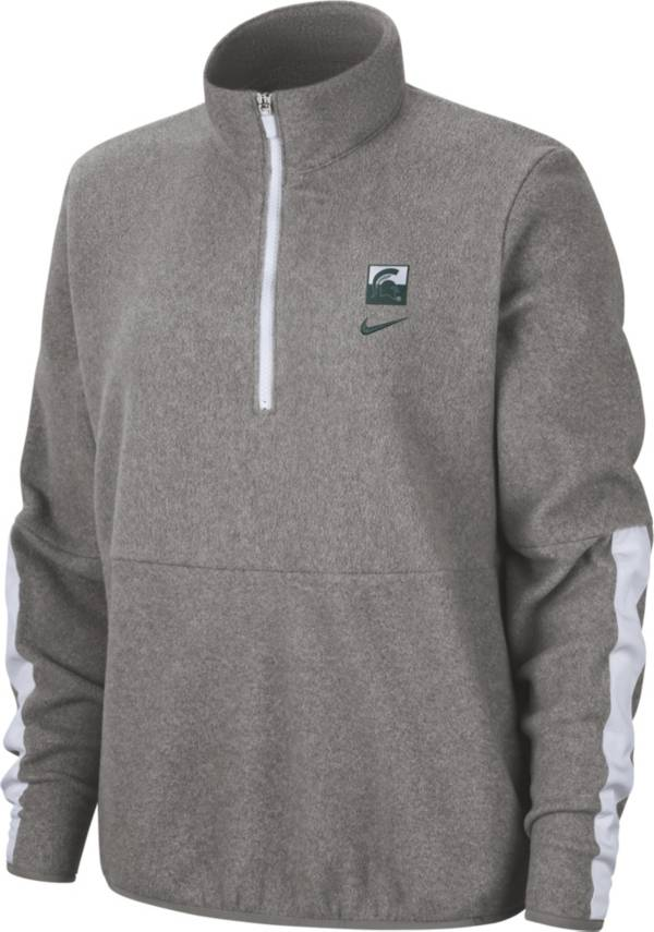Nike Women's Michigan State Spartans Grey Therma Half-Zip Fleece product image