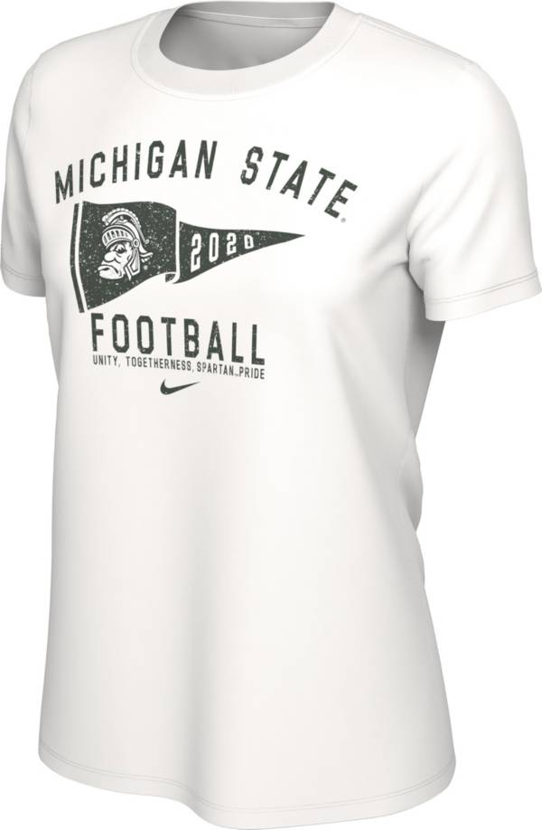 Nike Women's Michigan State Spartans Football White T-Shirt product image
