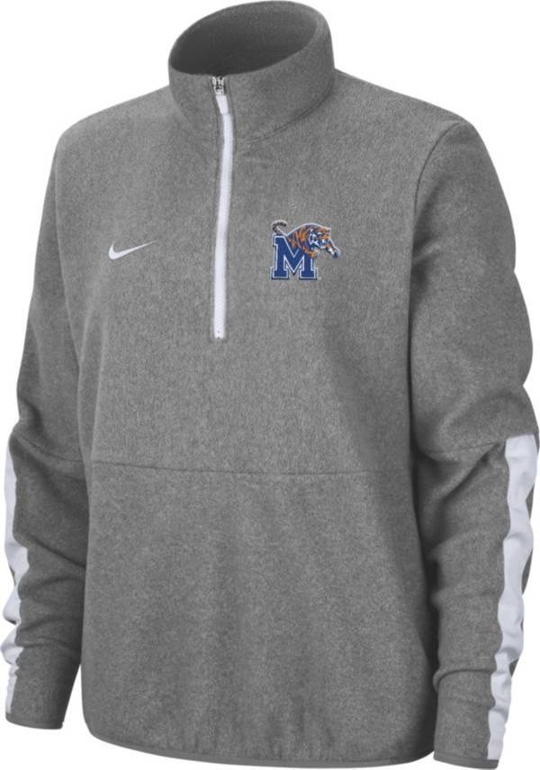 Nike Men's Memphis Tigers Grey Microfleece Half-Zip Shirt product image