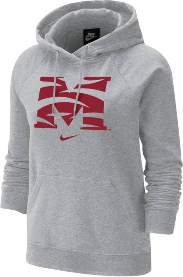 Nike Women's Morehouse College Maroon Tigers Grey Varsity Pullover Hoodie product image