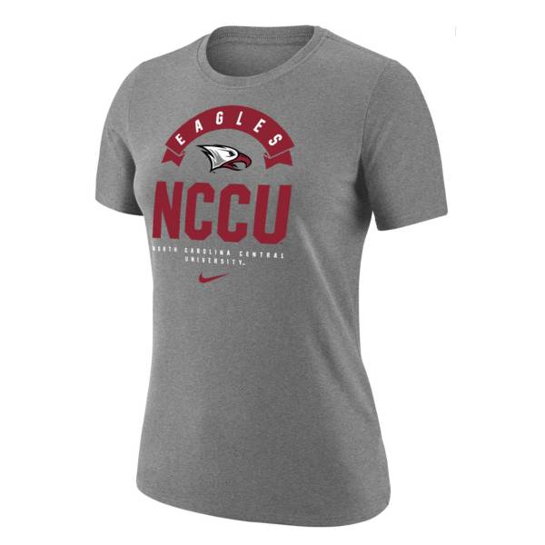 Nike Women's North Carolina Central Eagles Grey Dri-Fit Cotton T-Shirt product image