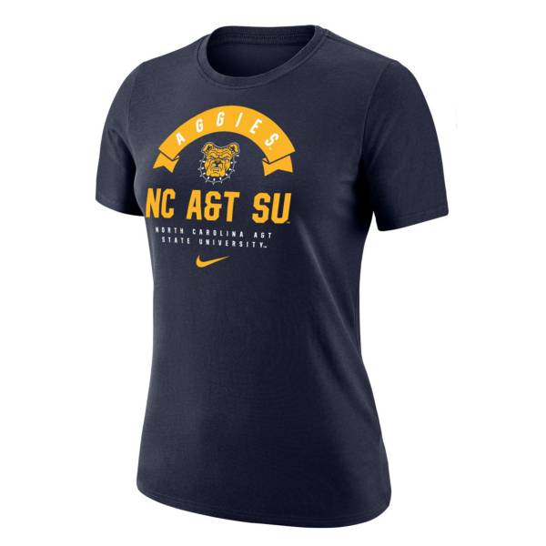 Nike Women's North Carolina A&T Aggies Navy Dri-Fit Cotton T-Shirt product image