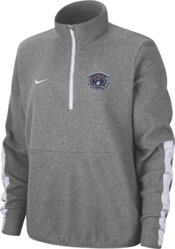 Nike Women's Villanova Wildcats Grey Microfleece Half-Zip Shirt product image