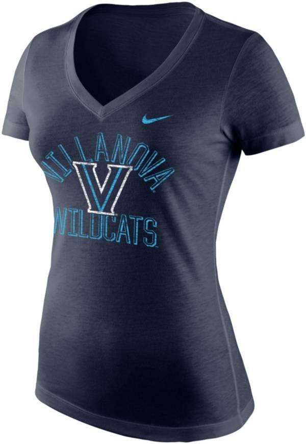 Nike Women's Villanova Wildcats Navy Tri-Blend V-Neck T-Shirt product image
