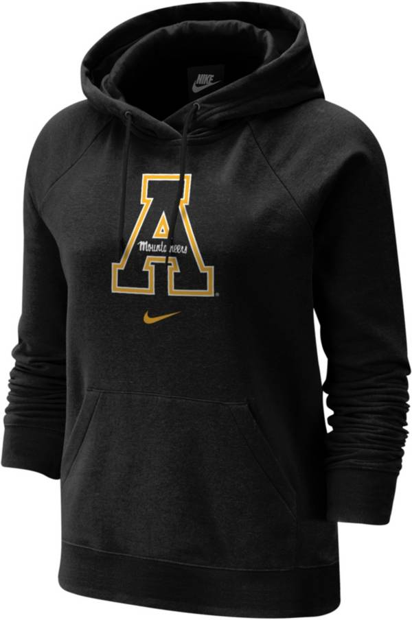 Nike Women's Appalachian State Mountaineers Fleece Pullover Black Hoodie product image